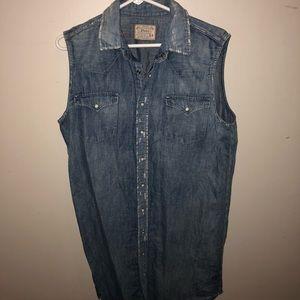 Ralph Lauren sleeveless jean dress
